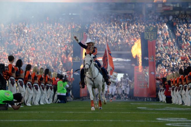 Broncos entrance