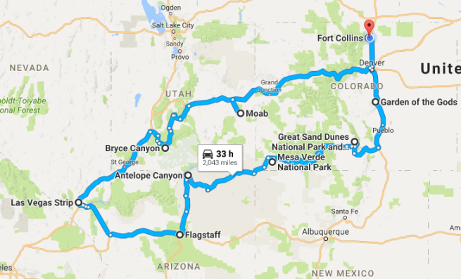 map-us-trip